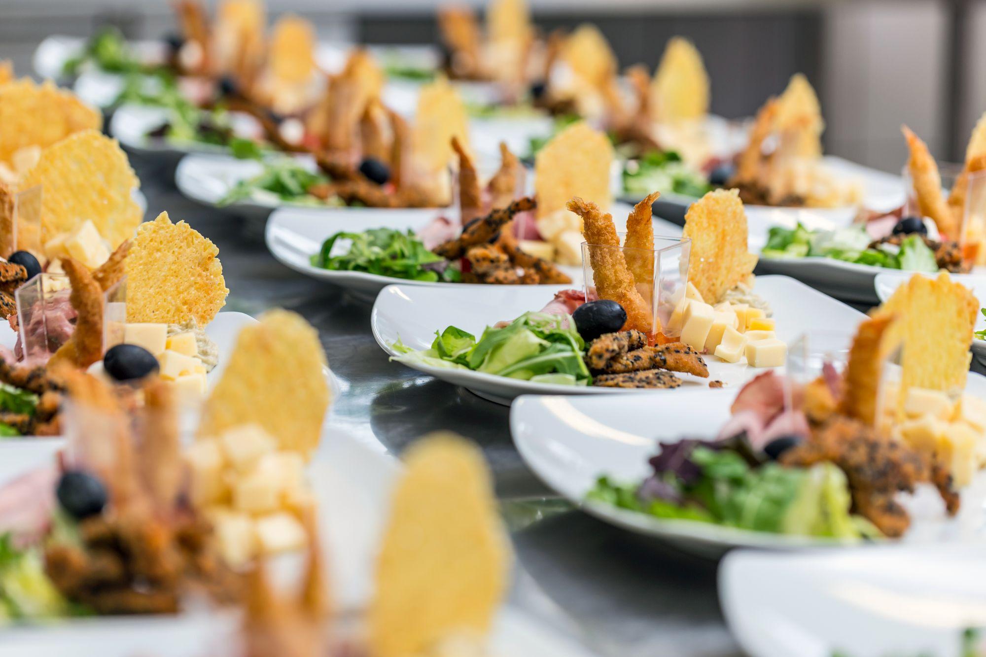Luxury food on wedding table